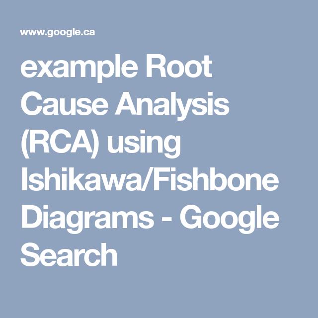 Example Root Cause Analysis Rca Using Ishikawafishbone Diagrams