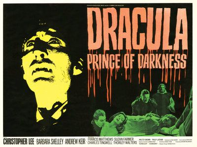DRACULA PRINCE OF DARKNESS (restored) by  Tom Chantrell