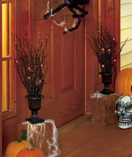 Halloween Urn Decorations Fascinating Lighted Halloween Tree Urnscolors Come In Black And Purple $995 Review