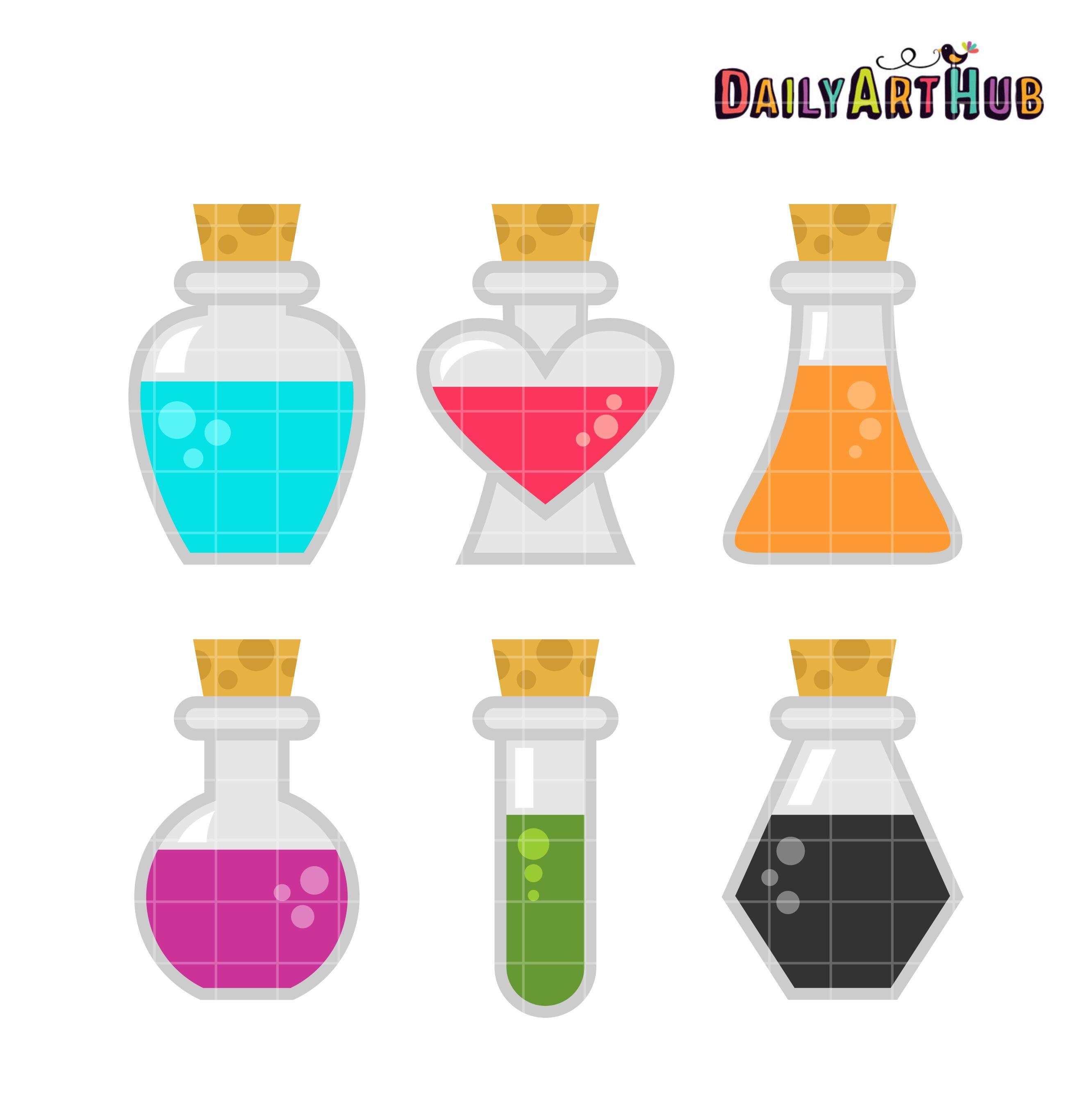 Potion Bottles Clip Art Set Potion Bottle Clip Art Art Set