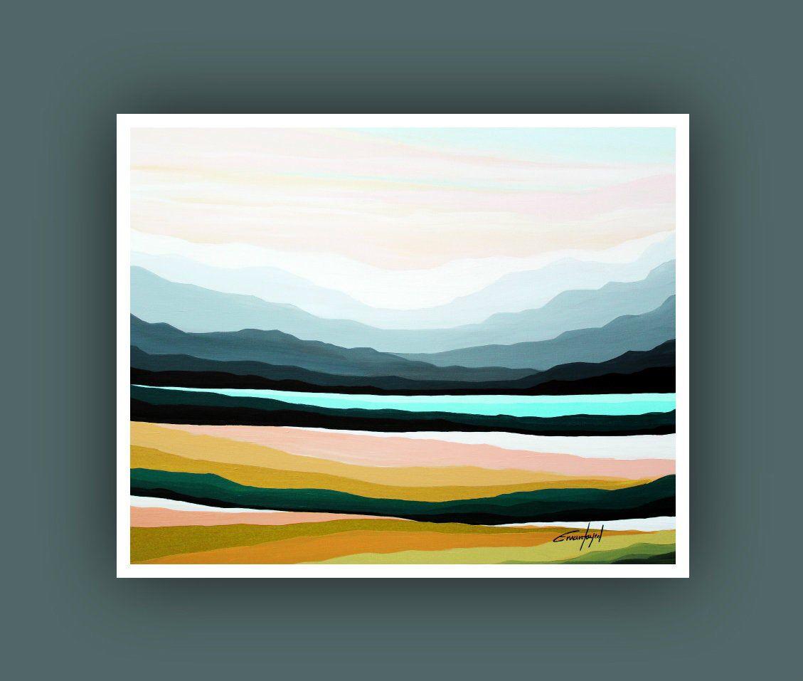 Printable Abstract Art Instant Digital Download Art Modern Art Prints Contemporary Art Prints Landscape Painting Printable Artwork Landscape Paintings Acrylic Mountain Paintings Modern Art Prints
