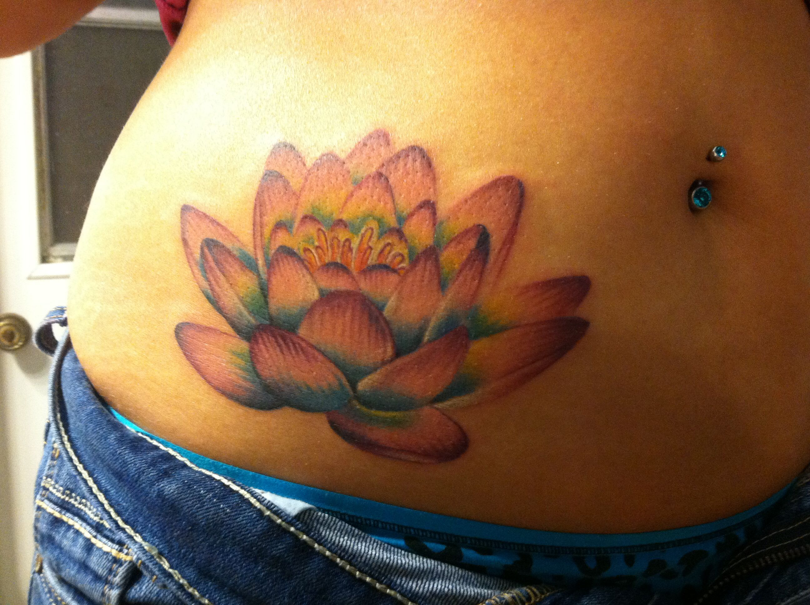 New Lotus Tattoo Lotus For Strength And Blue And Pink For Infertility Struggles Endometriosis Tattoo Lotus Tattoo Cover Up Tattoos