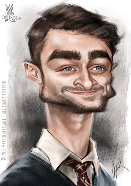 Daniel Redcliff caricature by Marzio Mariani (All Rights Reserved)