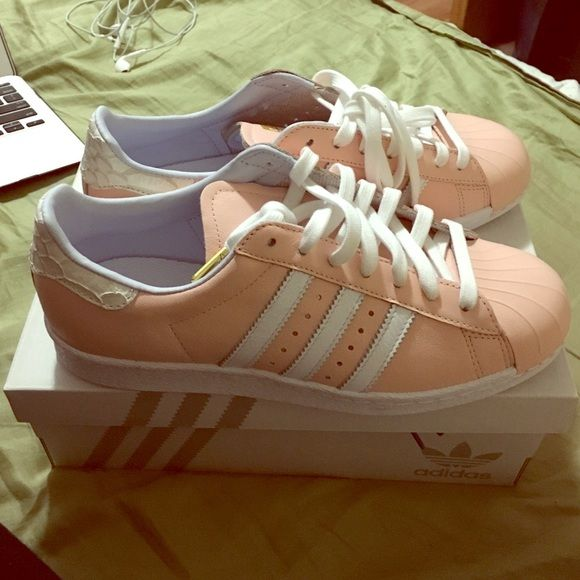 Blush Pink Adidas Mi Superstar Size 7