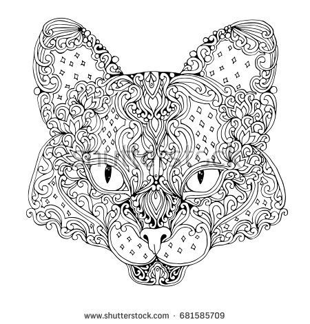 Giant Panda Bear Head Isolated On White Background Hand Drawn Vector Illustration Doodle Style