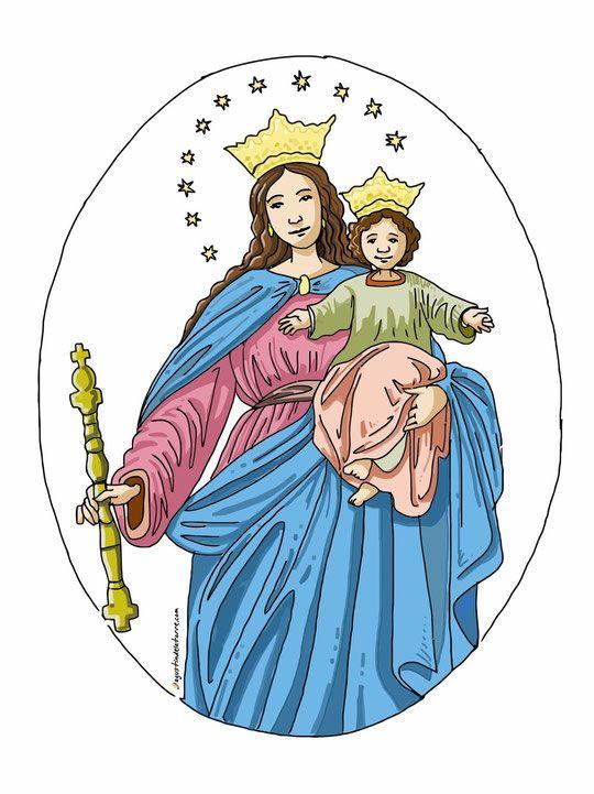 María Auxiliadora - Agustin de la Torre Zarazaga. Dibujos y diseño gráfico