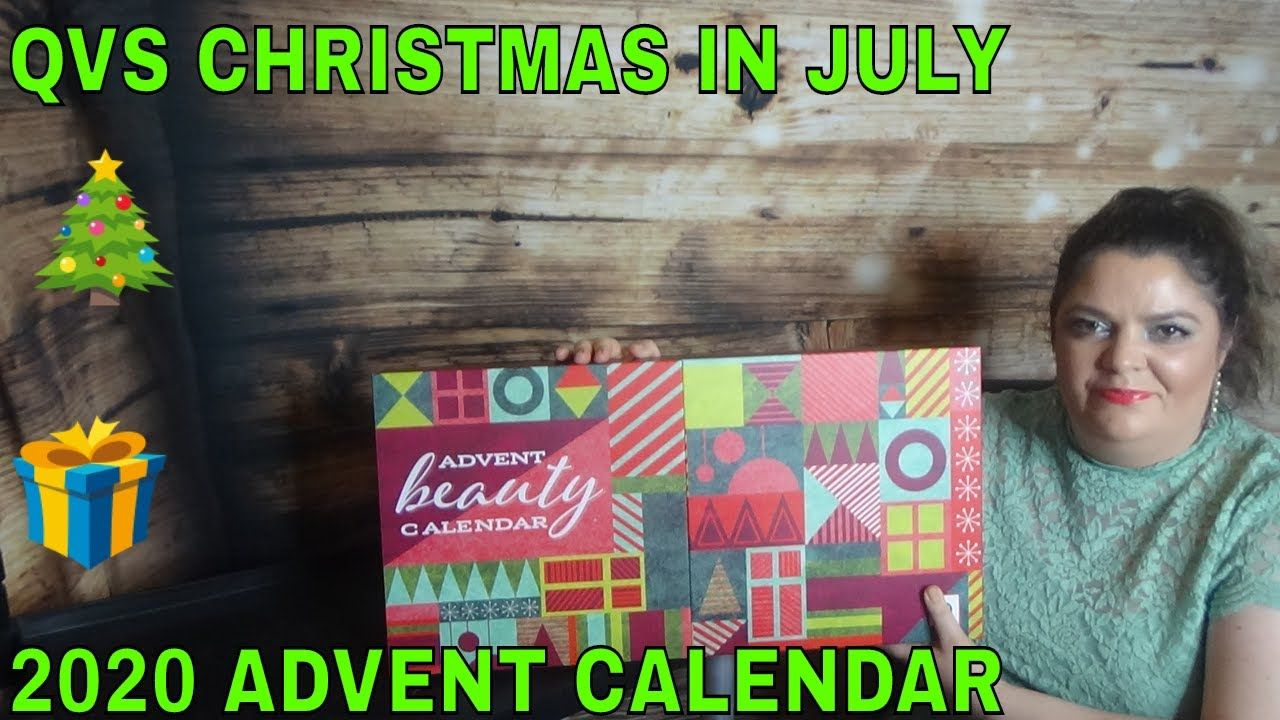 Qvc Christmas Schedule 2020 QVC CHRISTMAS IN JULY SAMPLE ADVENT CALENDAR UNBOXING 2020