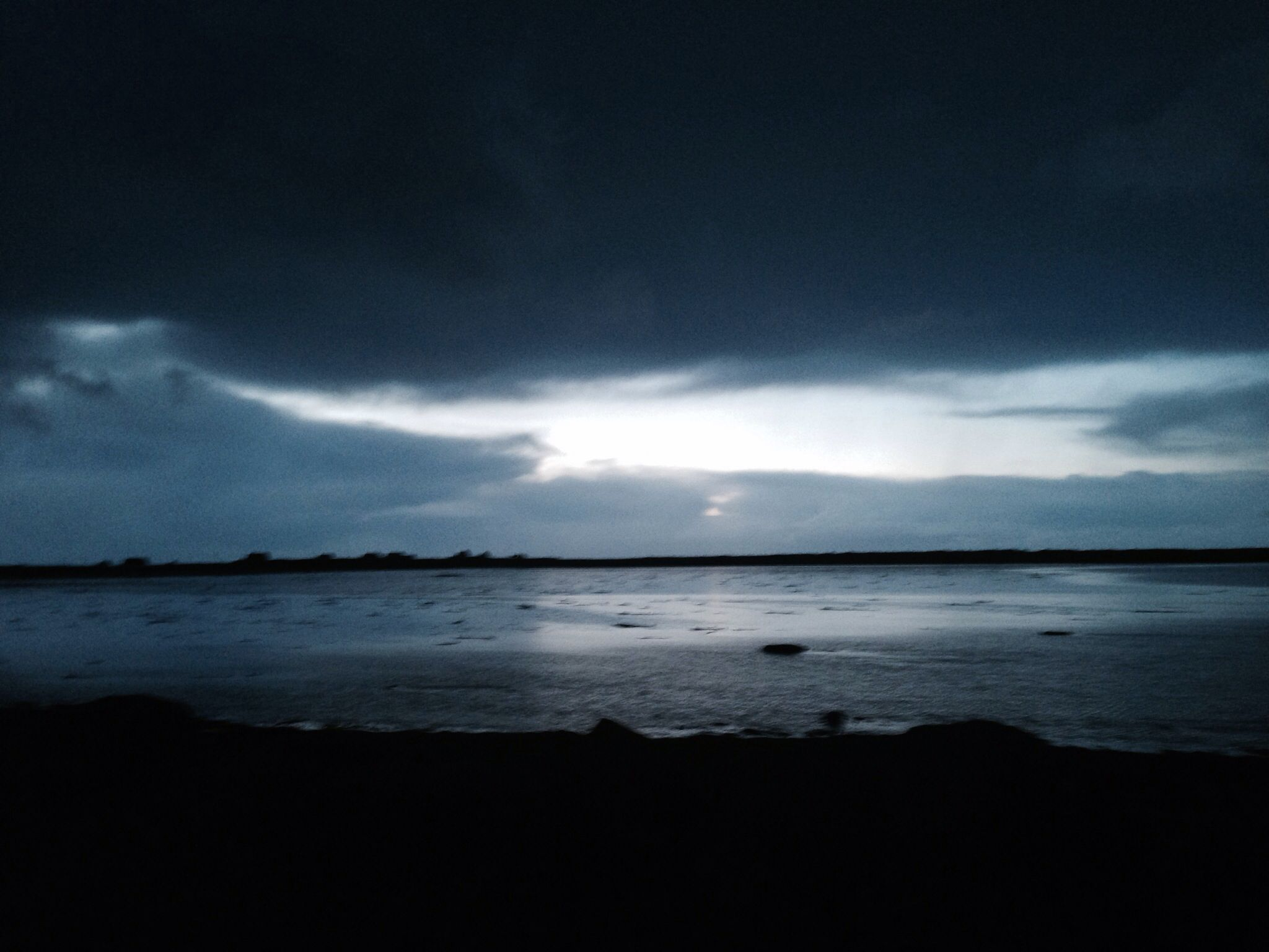 Winter sunset on South Uist in Outer Hebrides