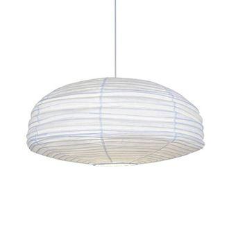 Suspension boule japonaise en papier froissé blanc diam¨tre 60cm