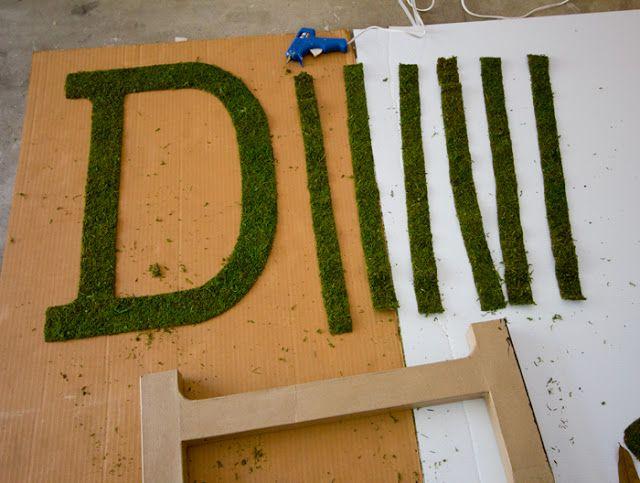 Jenna Sue: DIY Moss Letter