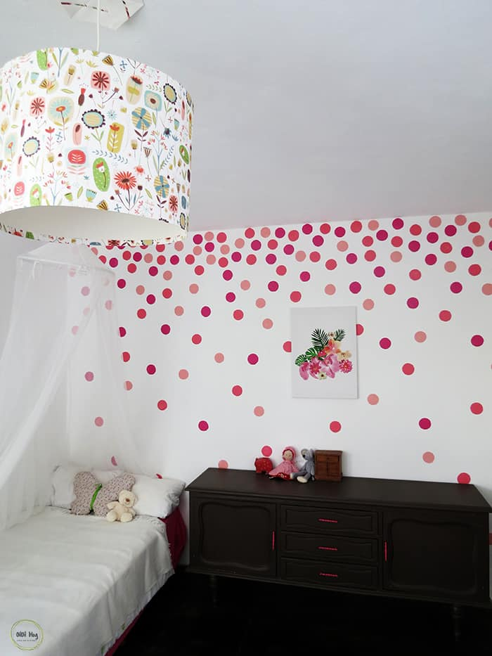 How to paint a polka dots wall Ohoh deco in 2020 Polka