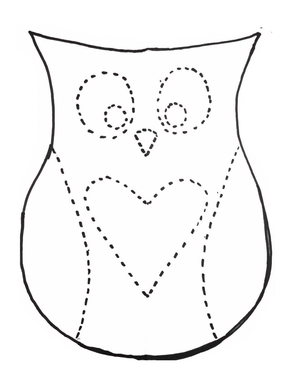 Dan Faires Owl Pillow Template