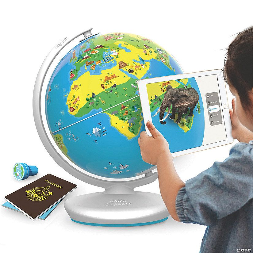 The augmented reality Earth Globe lets kids explore over 400 wonders and learn over 1000 facts about cultures, monuments, inventions, animals, food, and more. ...