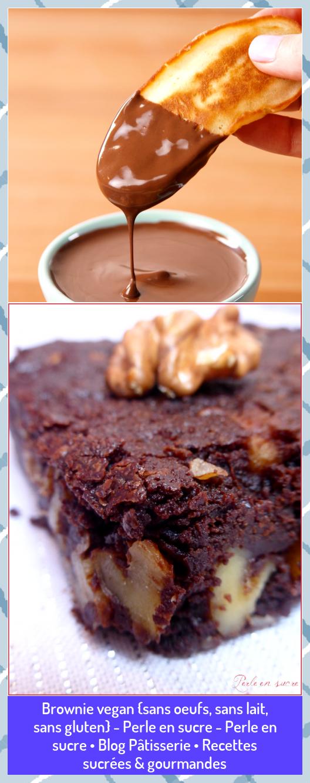Brownie vegan sans oeufs sans lait sans gluten  Perle en sucre  Perle en sucre  Blog Pâtisserie  Recettes sucrées  gourmandes