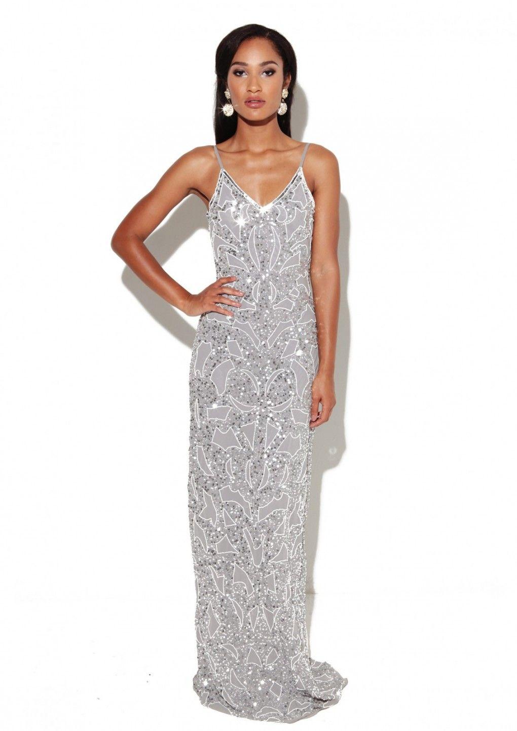 2071586644 Virgos Lounge - Julia Dress Grey
