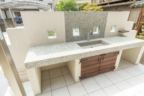記事34522 画像1098634 屋外シンク ガーデンシンク 屋外キッチンデザイン