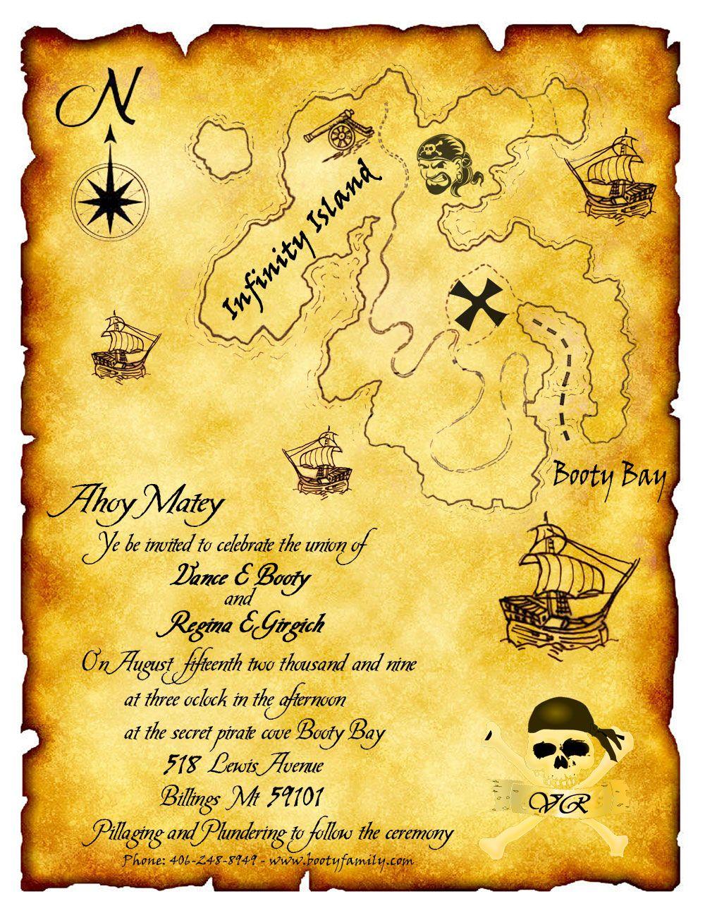 Pirate Wedding Invitation What A Fun Idea For The Home