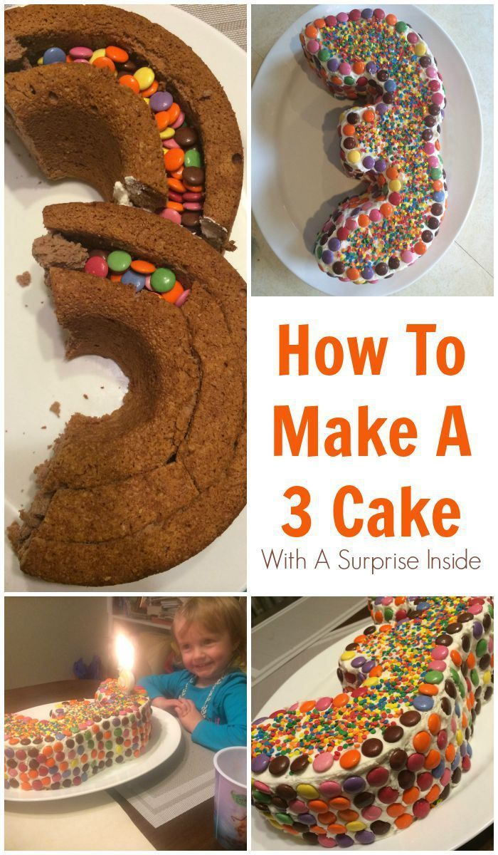 How To Make A 3 Cake With A Surprise Inside Kids Party Ideas