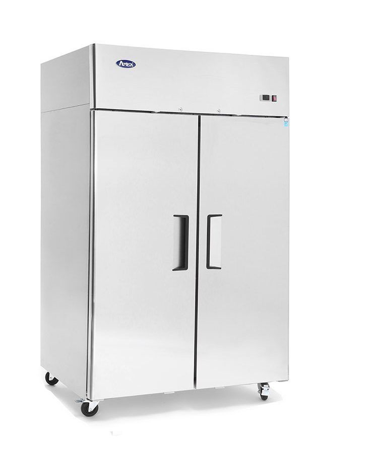 Atosa Mbf8005 Stainless Steel 2 Door Top Mount Commercial Refrigerator Atosa Locker Storage Commercial Refrigerators Top Mount