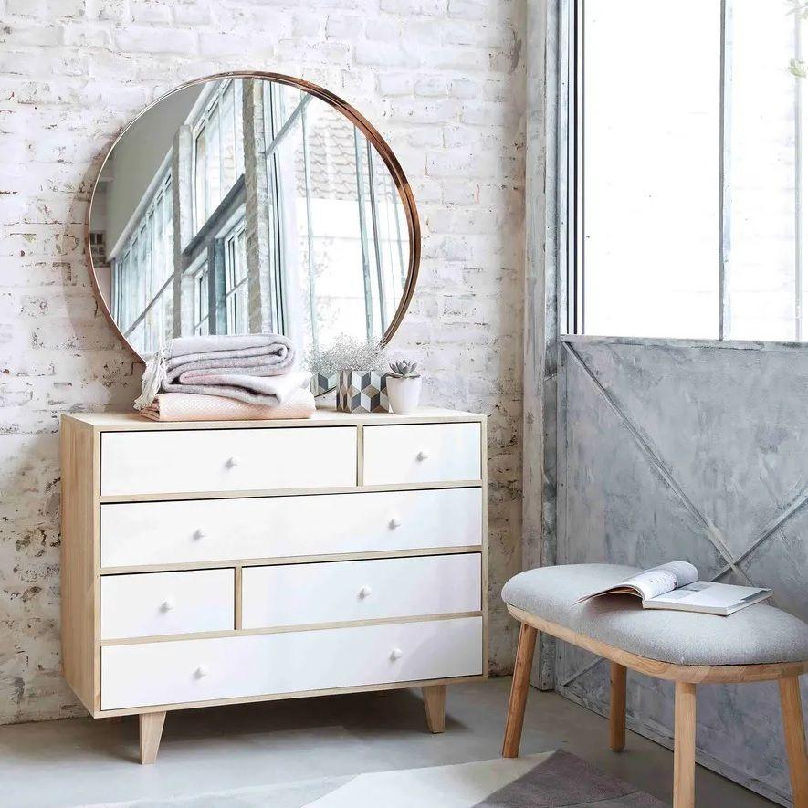memilih lemari laci  kamar- kayu skandinavia
