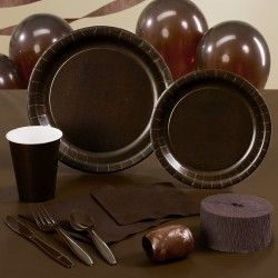 Chocolate Brown (Brown) Deluxe Party Kit