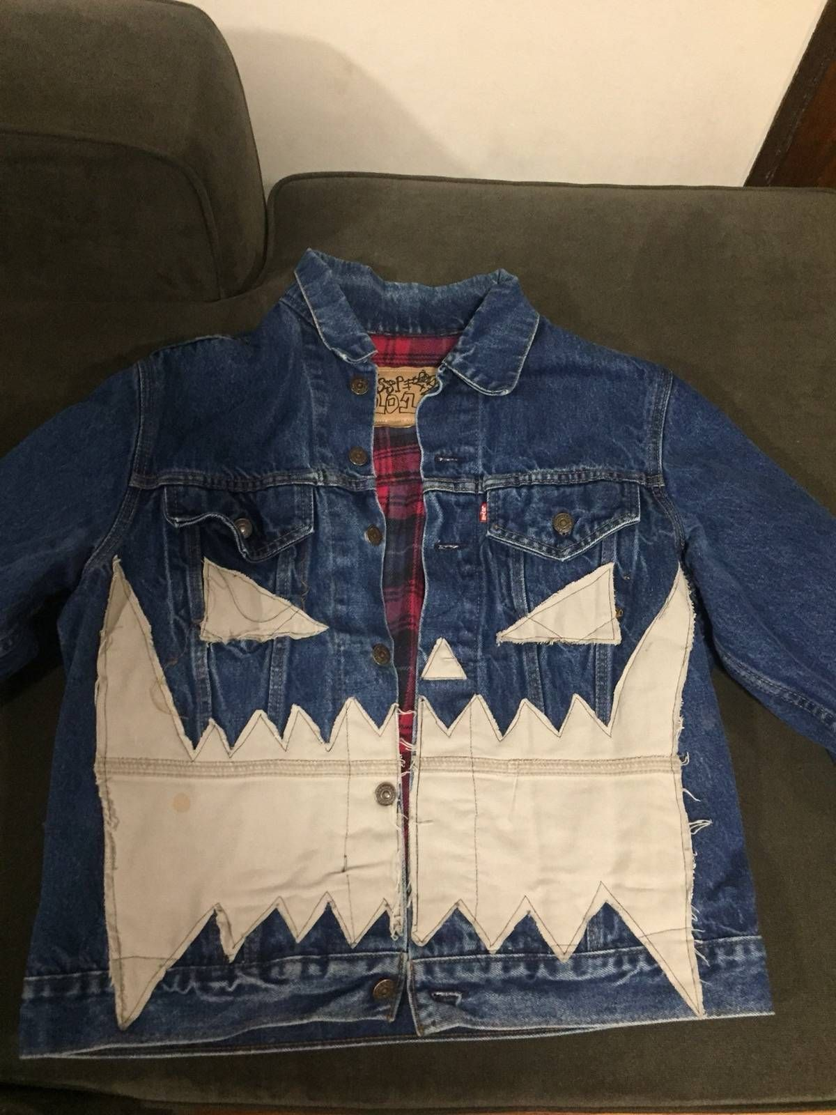 ce0fc017a02 Asspizza Asspizza Flannel Lined Denim Jacket Size l - Denim Jackets for Sale  - Grailed