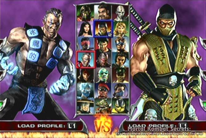 Image result for mortal kombat deadly alliance select screen