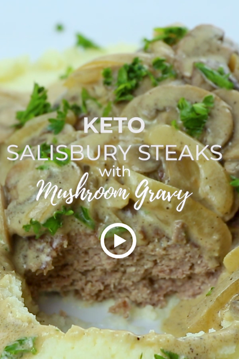 Keto Salisbury Steak with Mushroom Gravy | I Breat