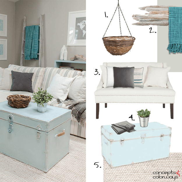 COASTAL COZINESS | Teal accents, Trunk coffee tables and Interior ...