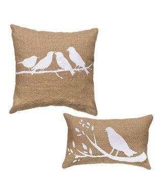 Bird Decorative Pillow - Set of Two