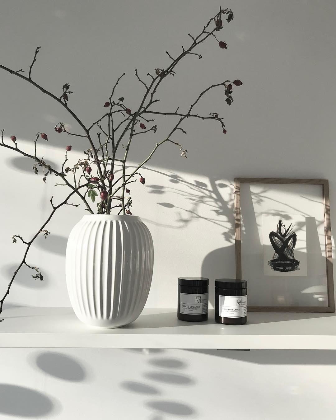 Handgefertigte Design-Vase Hammershøi | Dekorative vasen ...