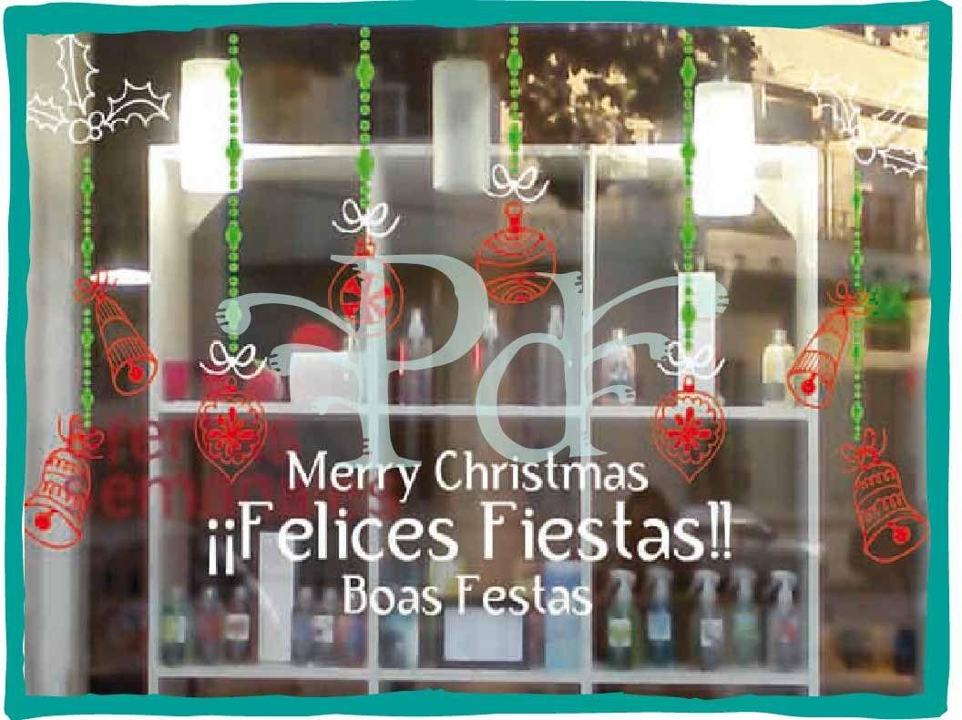 Ploteo navidad vinilos vidrieras decoracion promocion - Vinilos para vidrieras ...