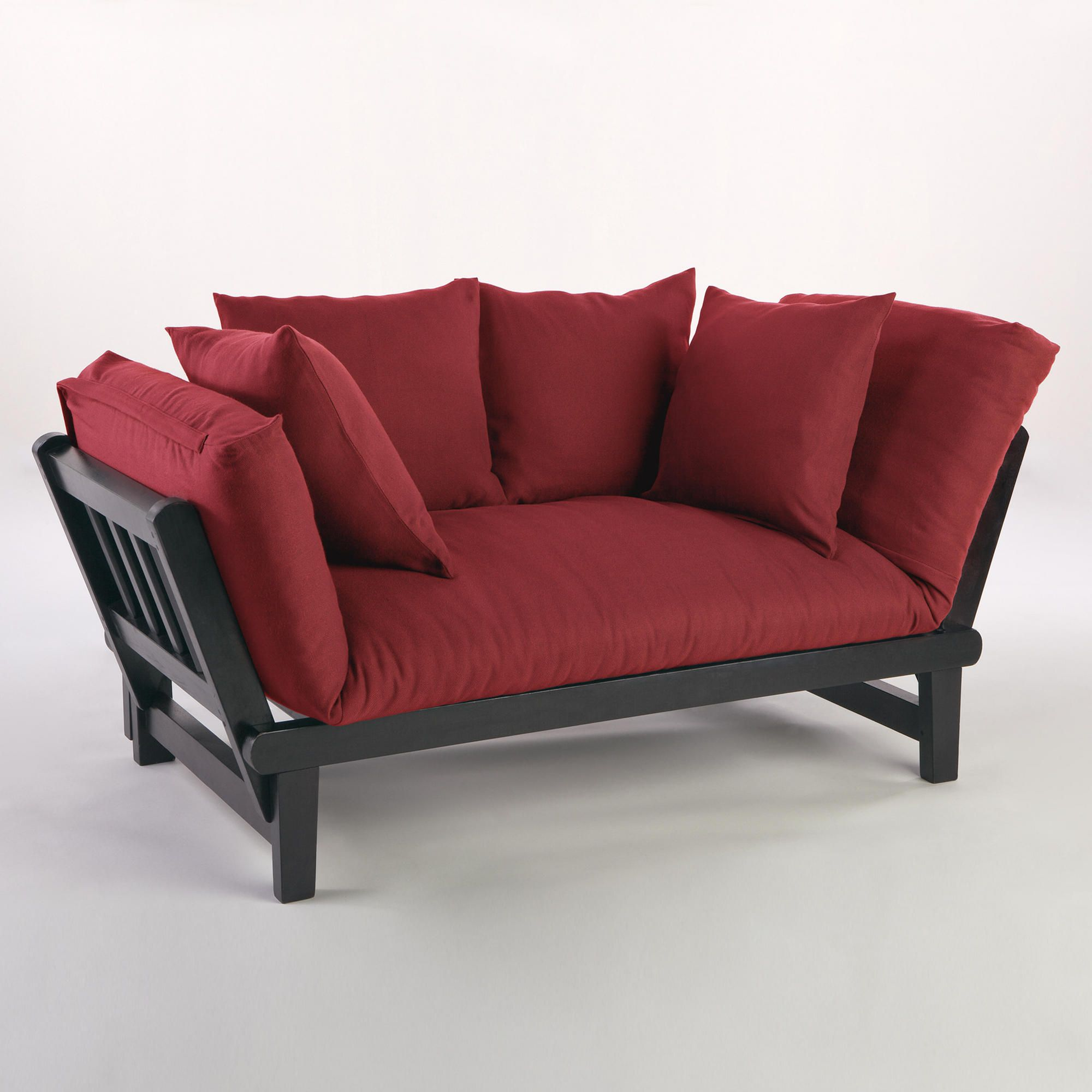 Genial Red Studio Day Sofa Slipcover