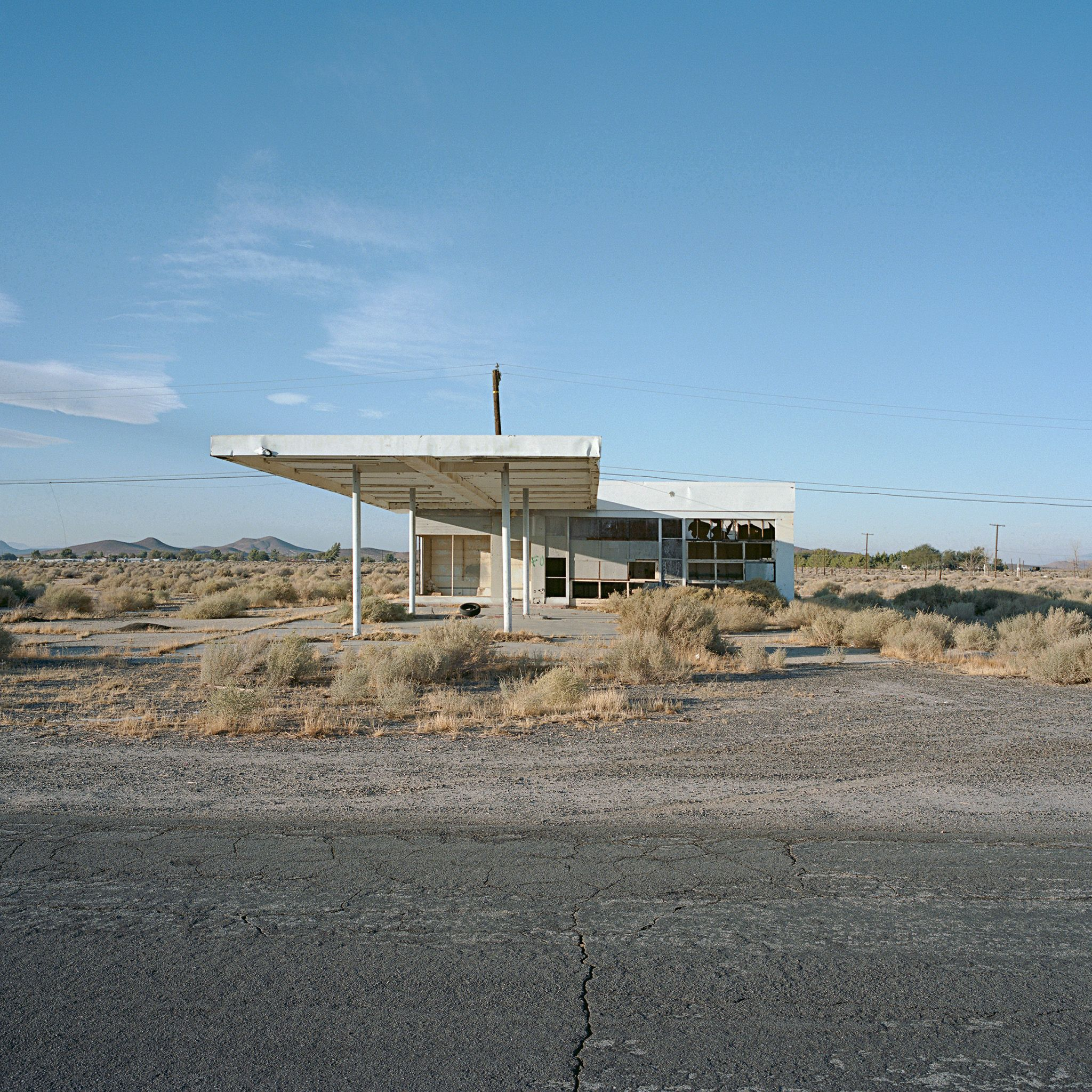 self serve supreme. north edwards, ca. 2011. Abandoned