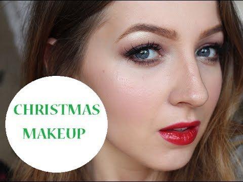 Christmas Holiday Makeup Tutorial - Cranberry Eyes & Red Lips #holiday #makeup #christmas #cranberry #red #lips #eyes #festive #christmasmakeup