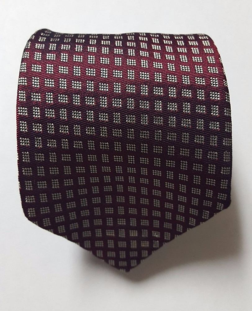 BURBERRYS ABSTRACT GEOMETRIC WOOL SILK BLEND MEN'S NECK TIE HAND SEWN IN USA #Burberry #Tie