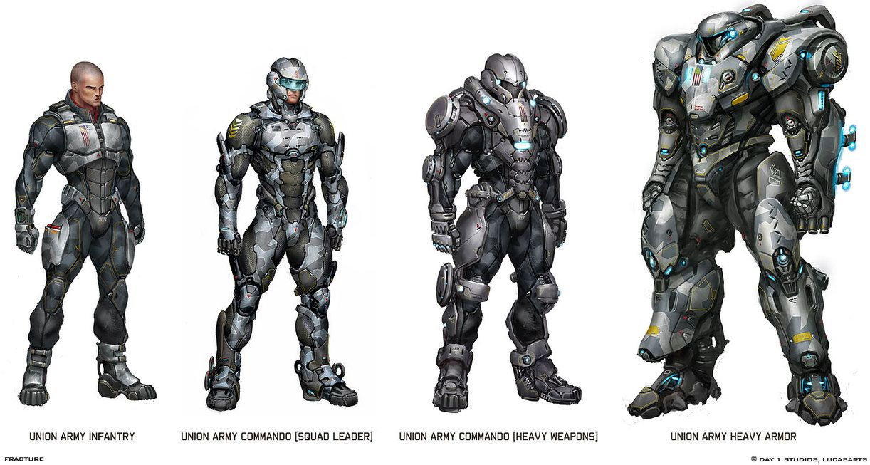 Some Interesting Battle Suits by Scarlighter on DeviantArt