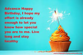 Happy Birthday In Advance Wishes Images With Romantic Love Quotes