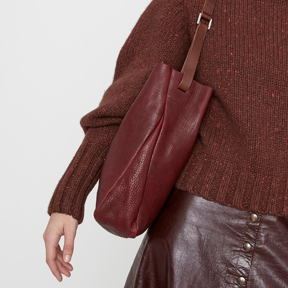 746949a82e NEW IN: AW18 Cleve Calvert Leather Shoulder Bag in Plum | Ally Capellino