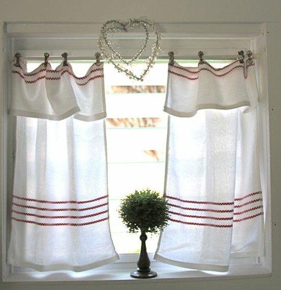 Flour Sack Towel Curtains