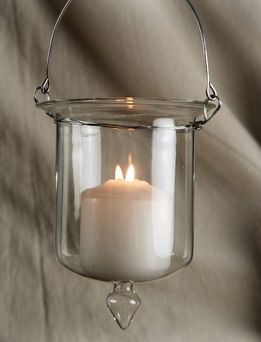 Gl Hanging Candle Holder 5in