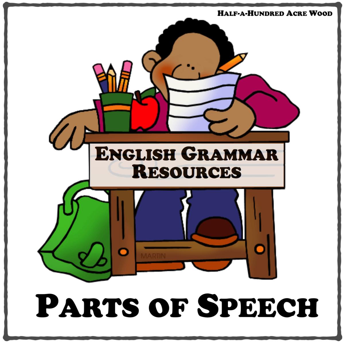 English Grammar Resources Parts Of Speech