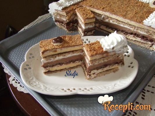 Lešnik-čokoladna torta