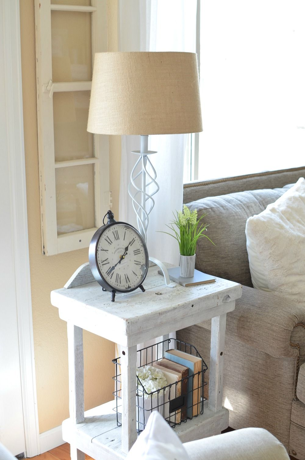 Refreshed Modern Farmhouse Living Room Farmhouse End Tables