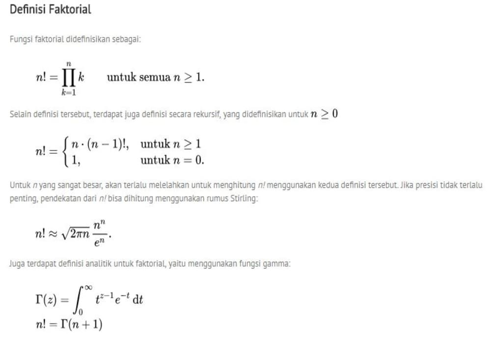Faktorial Matematika Beserta Contoh Soal Dan Jawaban Pinterpandai Matematika Tulisan Belajar