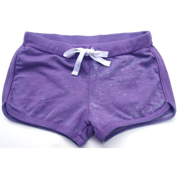 Paper Hart Tween Girls Lilac Purple Lilly Fleece Shorts with... ❤ liked on Polyvore featuring shorts