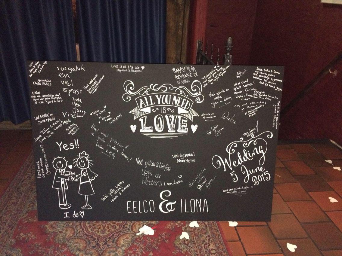 Gastenboek - krijtbord - chalkboard