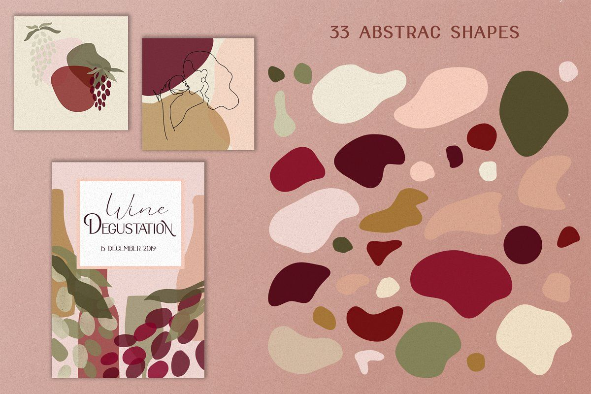 Abstract Wine Collection Bonus In 2020 Wine Collection Instagram Branding Abstract Shapes