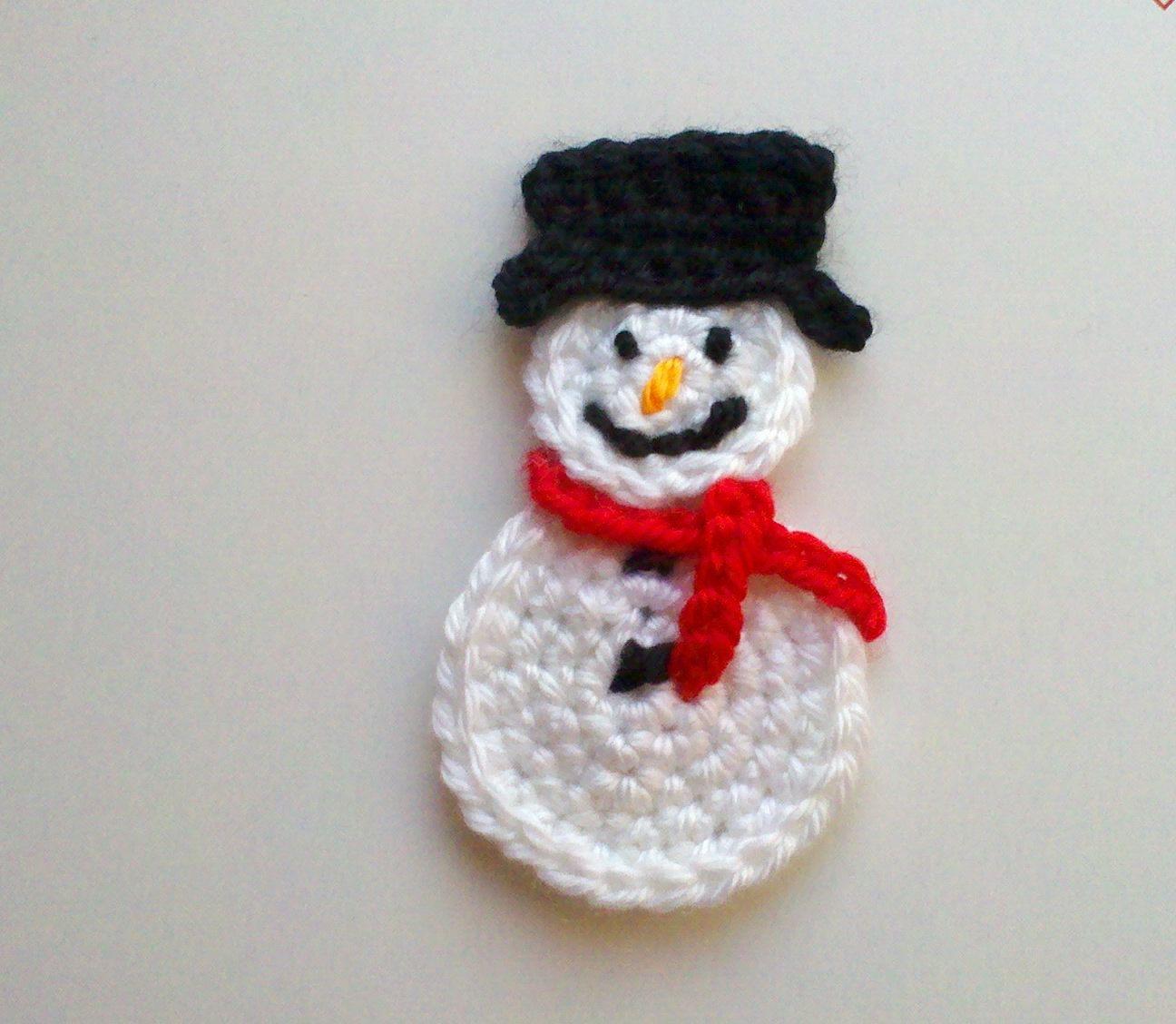 Il Fullxfull 278261668 Jpg 1296 1128 Crochet Snowman Crochet Motif Applique Pattern