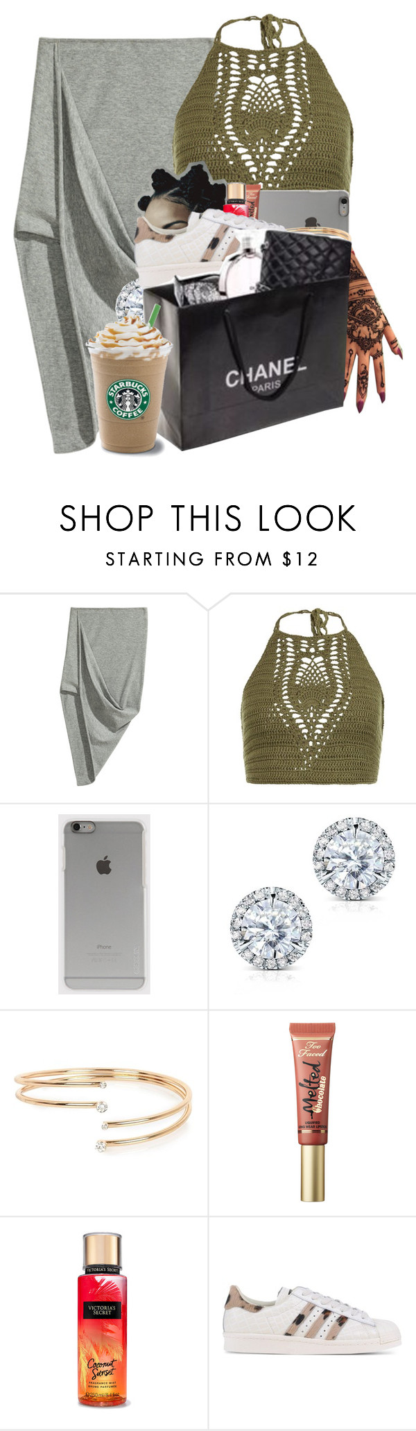 """""""Four Five Seconds"""" by denise-loveable-bray ❤ liked on Polyvore featuring New Look, Incase, Kobelli, River Island, Too Faced Cosmetics and adidas Originals"""